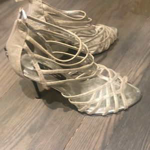 Nina silver shimmer heels!